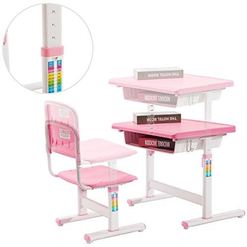 Child S Adjustable Pink Metal Storage Desk And Chair Set