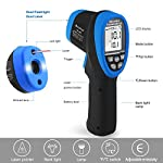 HOLDPEAK Infrared Thermometer Laser Thermometer Non-Contact High Temperature Gun -58?~2480? / -58?~3272? with Data Hold & Adjustable Emissivity for Forge Melting