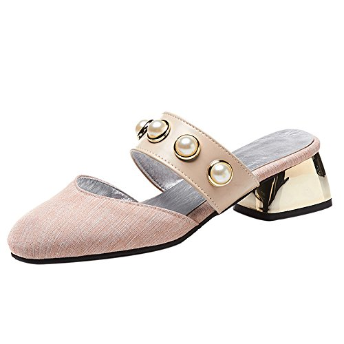 Closed Women Slip Mules Pink Coolcept On Toe C6WUaBHHF