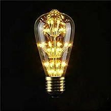 Lightess LED Vintage Edison Bulb Starry Filament Light Dimmable E26 Base 3W Warm White