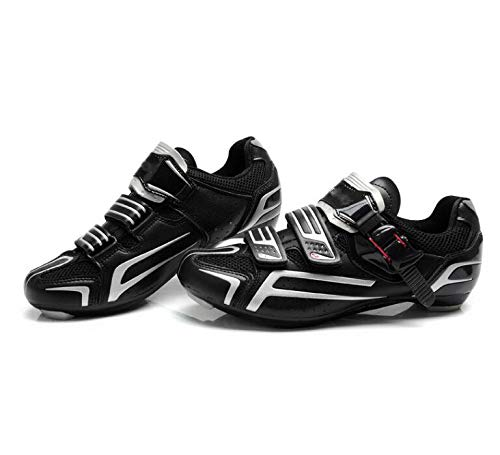 YURU Unisex Road Cycling Shoes, Men's Bicycle Shoes,Casual Anti-Slip Lock Outdoor Cycling Shoes