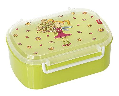 sigikid, Mädchen, Brotdose mit Blumenfee-Druck, Brotzeitbox Florentine, Grün, 24782