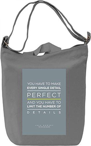 Every single detail Borsa Giornaliera Canvas Canvas Day Bag| 100% Premium Cotton Canvas| DTG Printing|