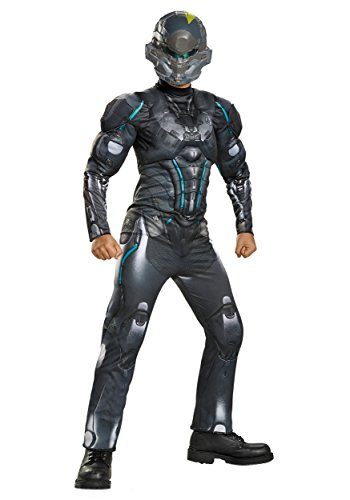 Gray Alien Costume (Spartan Locke Classic Muscle Halo Microsoft Costume, Large/10-12)