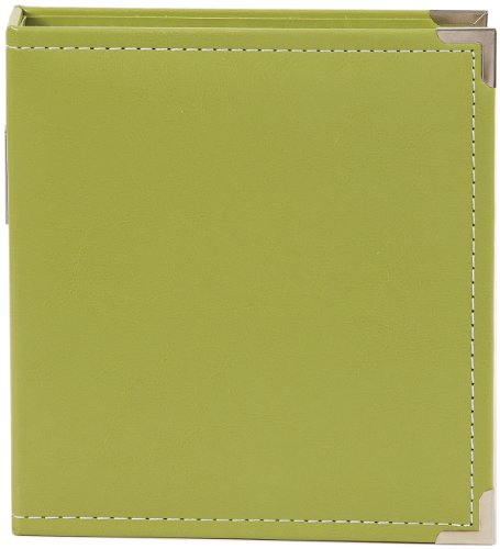 Simple Stories 4038 Faux Leather Binder, 6 by 8-Inch, Green ()