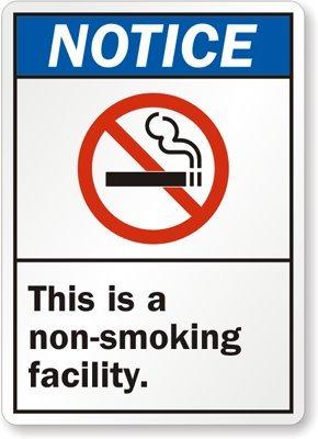 Amazon.com: Aviso: este es un instalación de non-smoking ...