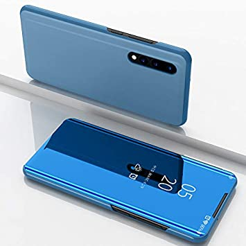 Funda Huawei P30 Fundas de Espejo Elegante Carcasa de Función Inteligente para Dormir/Despertar,Vista Inteligente Cover Carcasa Funda Case para Huawei ...