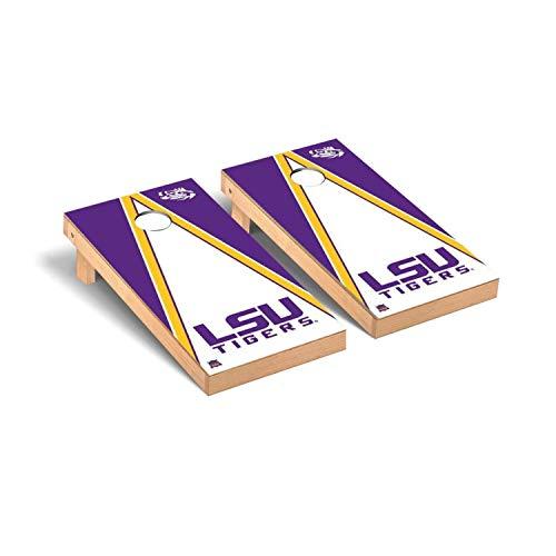 Victory Tailgate Regulation Collegiate NCAA Triangle Series Cornhole Board Set - 2 Boards, 8 Bags - Louisiana State LSU Tigers