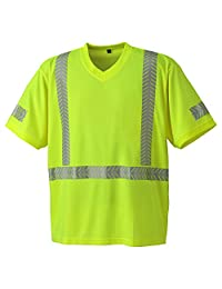 Pioneer V1052160-M Hi-Vis Ultra-Cool Ultra-Breathable Safety T-Shirt, Yellow-Green, M
