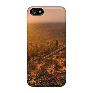 Iphone 5/5s Case, Premium Protective Case With Awesome Look - Mountain Road At Sunset