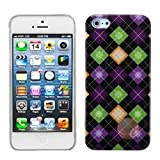 MYBAT Colorful Rhombic Plaid Phone Back Protector Cover compatible with Apple iPhone 5/5s