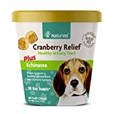 Urinary Health Supplement Soft Chews for Dogs, Healthy Bladder & Urinary Tract Support with Cranberry & Echinacea, Made by NaturVet