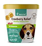 NaturVet Cranberry Relief Plus Echinacea for Dogs, 60 ct Soft Chews, Made in the USA