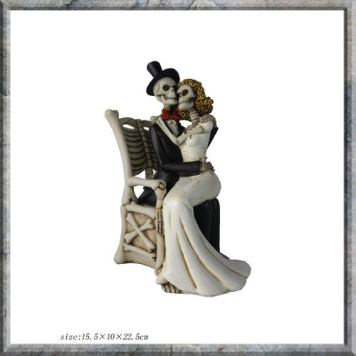 For Better For Worse Skeleton Bride and Groom Figurine Amazon