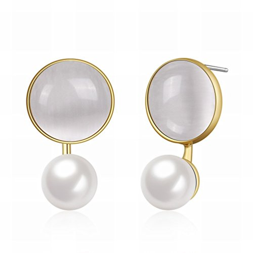MOMO Fashion Trend Jewelry / Ladies / Anti-allergic / Perl Earrings / Crystal Transparent / Small Et Exquisite / Zirconia Made