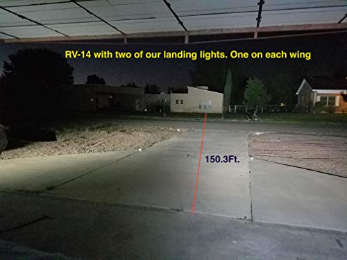 PAR36 Aviation Grade LED Aircraft Taxi Light - Wide Beam - 2,100 Lumens from 18 LEDs in Long Lasting Glass Lens with Die-Cast Aluminum Housing by Crew Dog Electronics (Image #3)