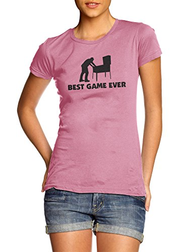 BEST GAME EVER PINBALL WOMENS 2X Pink Girly Tee