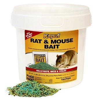 Kaput Rat Mouse Vole Bait - 32 Place Packs 61305 by KAPUT