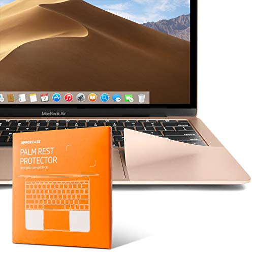 """UPPERCASE Premium Palm Rest Protector Skin Cover Set for MacBook (MacBook Air 13"""" (2018+), Gold)"""