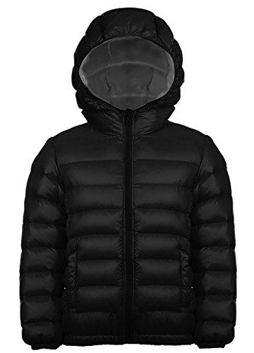 Jungen Outdoor Daunenjacke Sweatjacke Daunen Jacke winter kälteschutz Schwarz 160