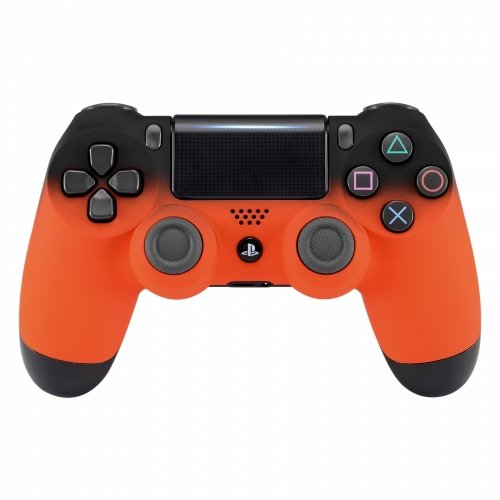 PS4 Dualshock Playstation 4 Wireless Controller Custom Soft Touch Fade New Model (Orange)