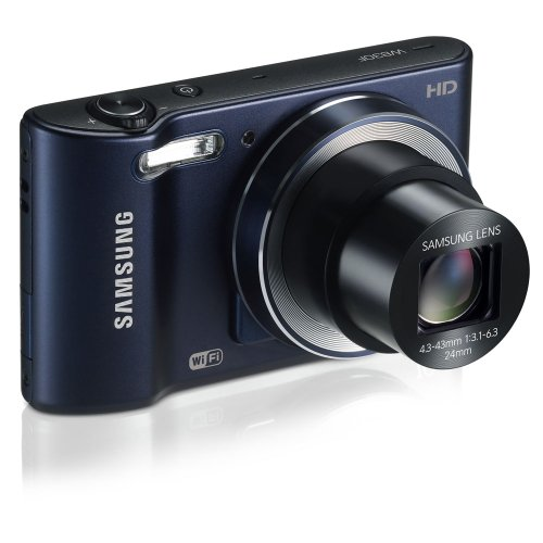 Samsung WB30F Smart Wi-Fi Digital Camera, 16.2 Megapixel, 10X zoom, 3.0'' LCD Display (Black) by Samsung