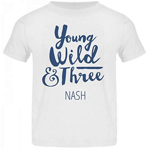 Nash White Jersey (FUNNYSHIRTS.ORG Young Wild and Three Nash: Basic Jersey Toddler T-Shirt)