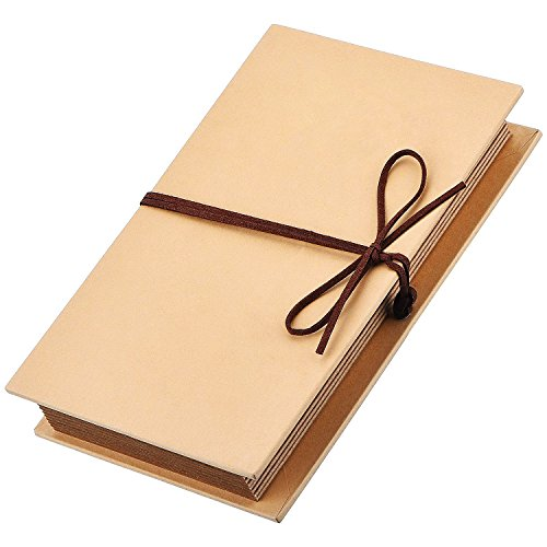 Mudder Scrapbooks Hardcover Photo Albums 4 x 6 Inch Photos Hand Made Kraft Paper for DIY Scrapbooking Anniversary Sketchbook Wedding Valentines Day ()