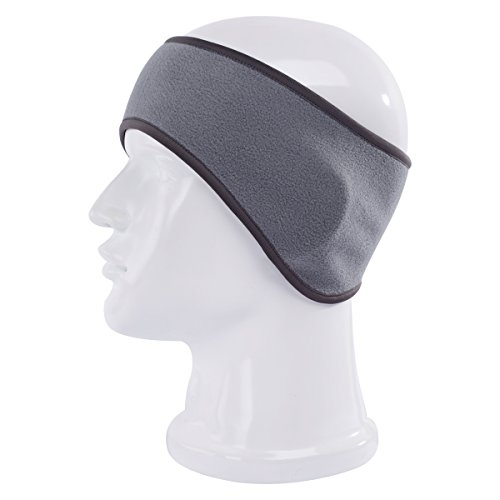 (Maoko Winter Ear Warmer Headband -Fleece Ear Muffs Ski Headwear Grey (Soft and)