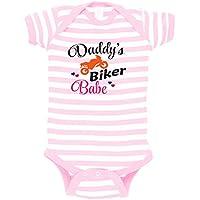 e758a0777b26 Daddy s Biker Babe Baby Combed Ring-Spun Cotton Stripe Fine Bodysuit