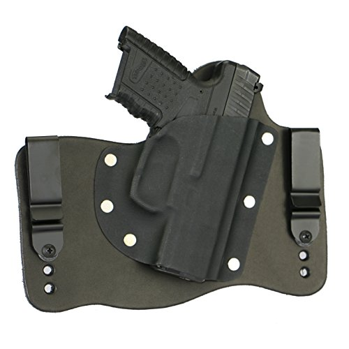 FoxX Holsters Walther PPS M2 in The Waistband Hybrid Holster Tuckable, Concealed Carry Gun Holster (Black)