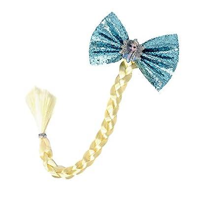 Frozen 2 Girls Faux Hair Braid, Princess Elsa Costume