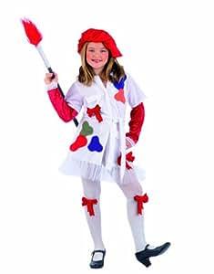 Limit Sport MI569 - Disfraz de pintora para nia (talla 4, incluye vestido, sombrero, cintas para las piernas y pincel)