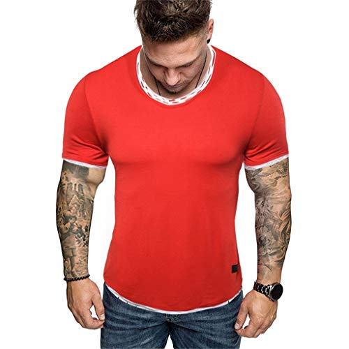 Mens Summer t Shirts Short Sleeve,Tronet Men/'s Long Sleeve Plaid Painting Button Large Size Casual Top Blouse Shirts