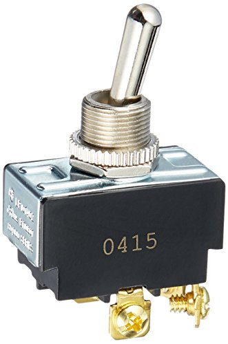 Morris 70100 Heavy Duty Toggle Switches, DPST On-Off, Screw Terminals, 2 (Pole Toggle)