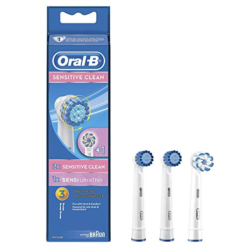 Oral-B Sensitive Clean & Sensi Ultra Thin Toothbrush Replacement Brush Heads Refill, 3 Count