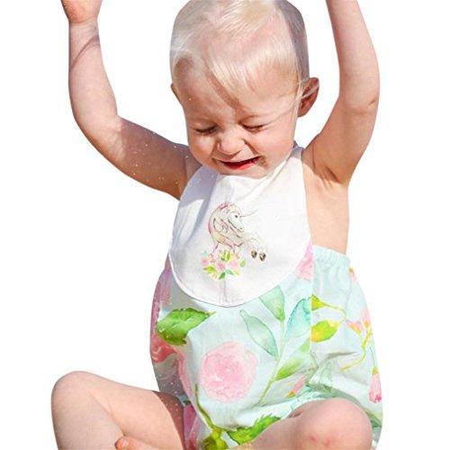 Vovotrade Neugeborenes Kleinkind Säugling Baby Mädchen Polyester Blumen  Backless Spielanzug Sunsuit Outfit Kleidung für 0 bis