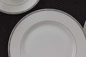 Porland Bianca Platinum 86 Parça 12 Kişilik Yemek Takımı, Bone China