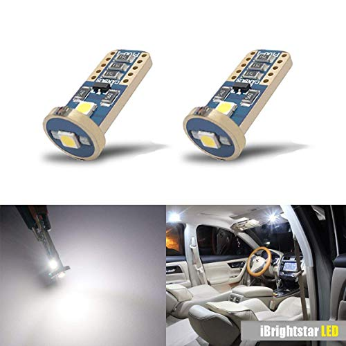 iBrightstar Wedge T10 168 194 LED Bulbs For Car Interior Dome Map Door Courtesy License Plate Lights,Xenon ()