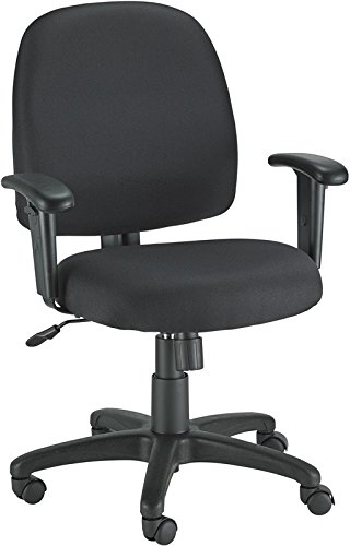 Eurotech Newport Mid-Back Black Fabric Task Chair, FT5241-AT33, FT5241 AT33, FT5241AT33 (Eurotech Office Chairs)