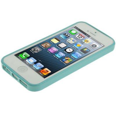 """iPhone 5 / 5S Hülle / Case aus Silikon in grün im """"Triangle-Style"""" -Original nur von THESMARTGUARD-"""
