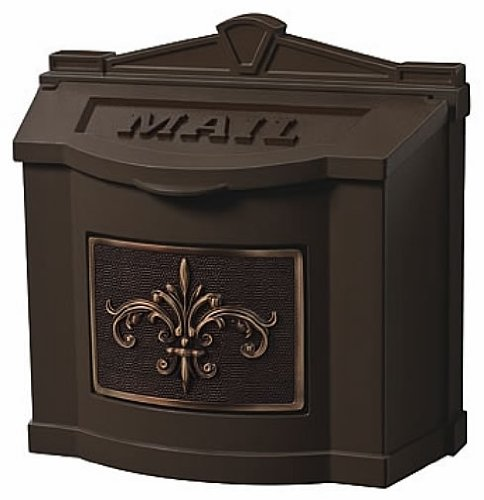 Gaines Fleur De Lis WallMount Mailbox Bronze/Antique -
