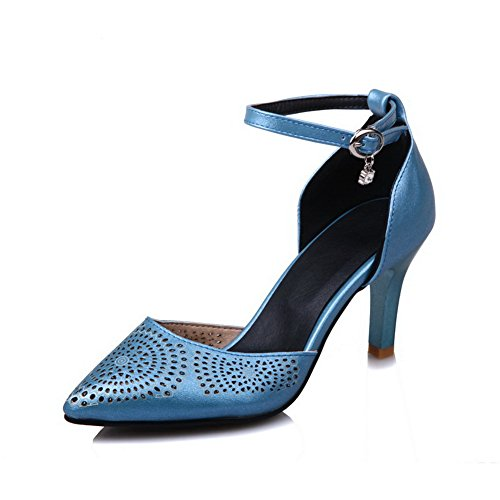 AdeeSu Bleu SLC03988 Compensées Sandales Femme RU0Rwqz