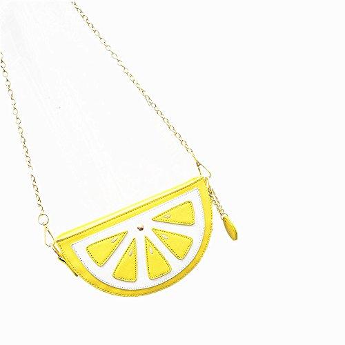 Borsa della borsa della borsa della cinghia della spalla della catena della borsa di figura della frutta del limone della novità di Yocome della novità