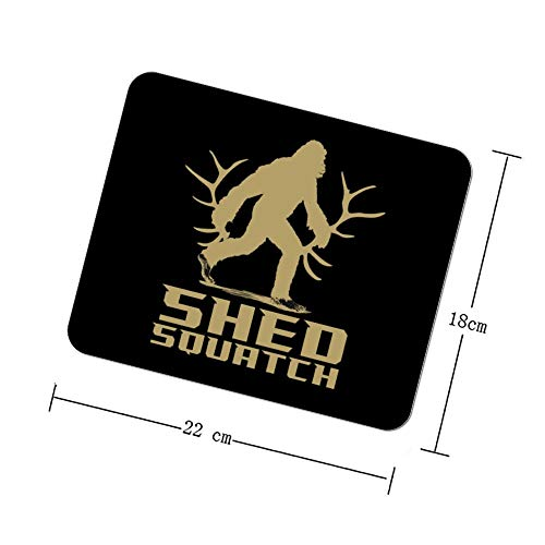 Shed Squatch Bigfoot Mousepad Personalized Design Non-Slip Rubber Gaming Pad Rectangle Mouse Pads for Computers Laptop
