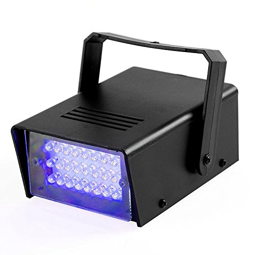 ENUOLI Mini LED Strobe Light Blue Color with 24 Super Bright LEDs Variable Speed Control for Christmas Clubs Stage Light Effect DJ Disco Bars Parties Halloween (Blue Color)]()