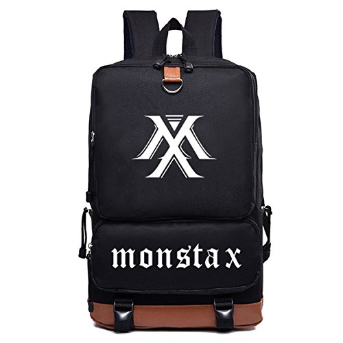 MONSTA X Backpack Kihyun Hyung Won I.M Minhyuk Won Ho Canvas Messenger Bag by JUNG KOOK