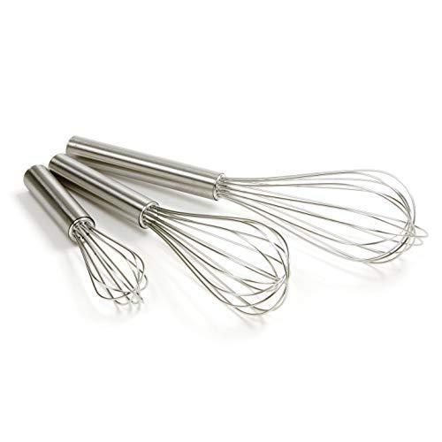 "Norpro Balloon Wire Whisk Set of 3 Stainless Steel Stir/Mix/Beat 6"" /8""/ 10"""