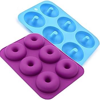 Amazon Com Staruby Donut Pan 2 Pack 6 Cavity No Stick