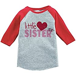 Custom Party Shop Girl's Little Sister Happy Valentine's Day 2T Red Raglan